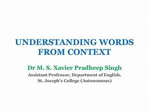 Understanding Words from Context