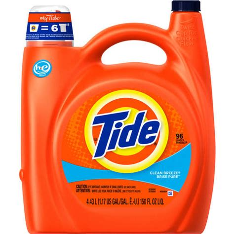 what is he detergent tide 2x ultra for he machines clean breeze liquid laundry detergent 150 oz walmart com