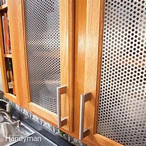 Ideas for the Kitchen: Cabinet Door Inserts Family Handyman