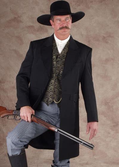scully frock coat black mens  west vests
