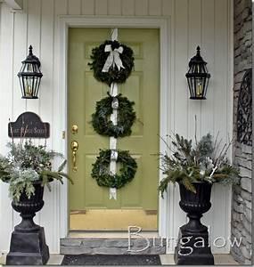 Winter Door & Rustic Wreath And Blue Door Pretty