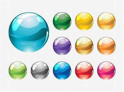 Marbles Glass Vectors Clip Marble Clipart Icons