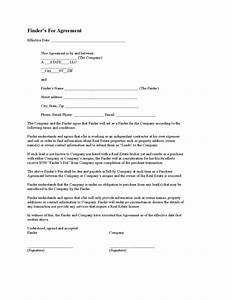 finders fee agreement template 28 images finders fee With property finders fee agreement template