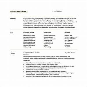11 customer service resumes to download sample templates With customer service resume summary