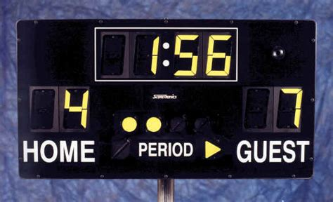 football basketball soccer hockey portable scoreboard