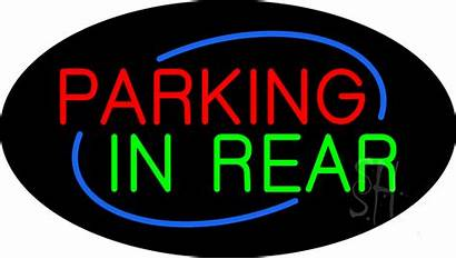 Parking Sign Neon Rear Flashing Signs