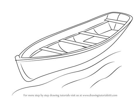 Boat Drawing Outline by Learn How To Draw A Boat Boats And Ships Step By Step