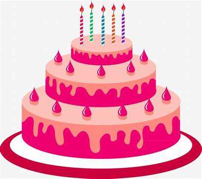 Cake Cartoon Birthday Clipart Transparent Minimalist Background