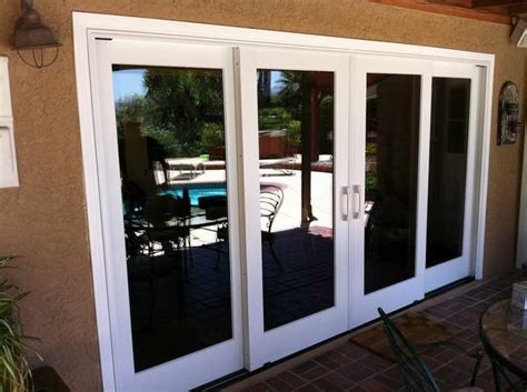 bloombety pella sliding patio doors with brown walls