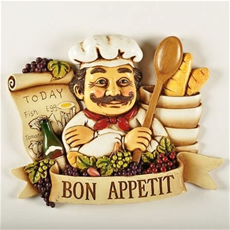 fat chef grapes wine bon appetit wall art plaque sign menu kitchen decor new ebay