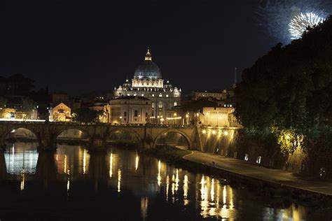 Vatican City At Night With Fireworks!