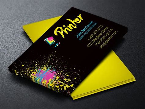 Design Business Cards Free Print Home by Printer Business Card Template Business Card Templates