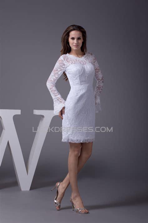satin lace shortmini scoop sheathcolumn long sleeve