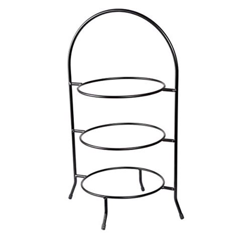 tier pie stand tiered serving stand includes  neutral antique finished wrought iron stand