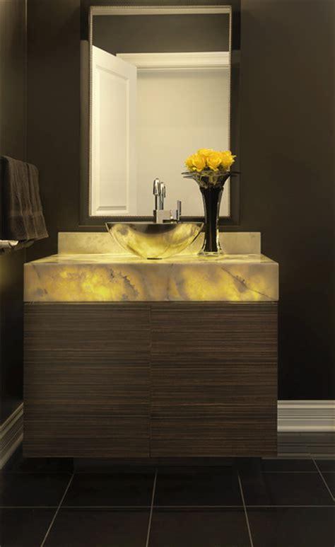 Luxury Condominium  Contemporary  Powder Room  St Louis
