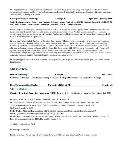 Commodities Broker Resume Defenddissertationxfc2com