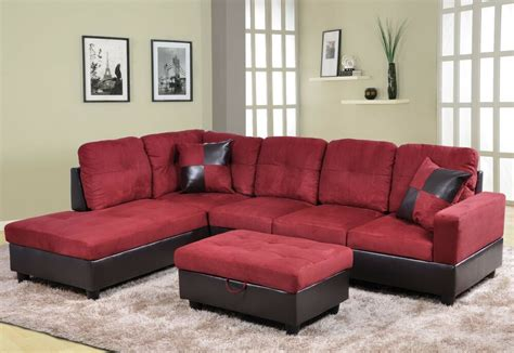 Free Sofas by Beverly Microfiber Faux Leather Sectional Sofa Set