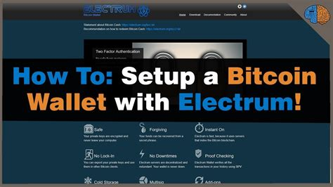 It is a lightweight, no frills wallet that's designed to electrum supports a number of features, like hardware wallet support and the ability to set the bitcoin transaction fee as well as rbf and childpaysforparent. How To Make A Bitcoin Wallet