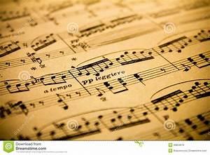 Vintage Sheet Music Background Stock Photo - Image: 45854619