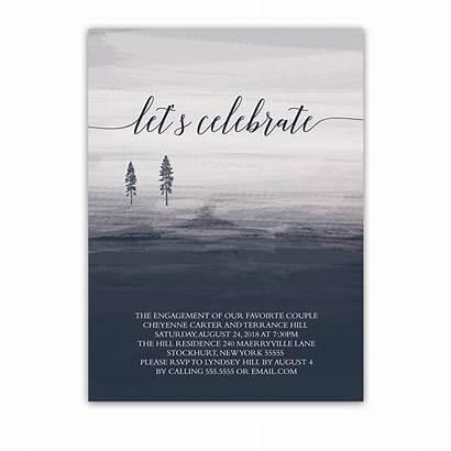 Minimalist Invitations Invitation Watercolor Notedoccasions Winter Tree