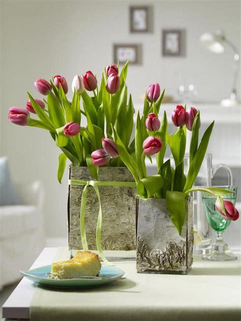 tolle dekoideen mit tulpen