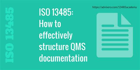 iso    effectively structure qms documentation