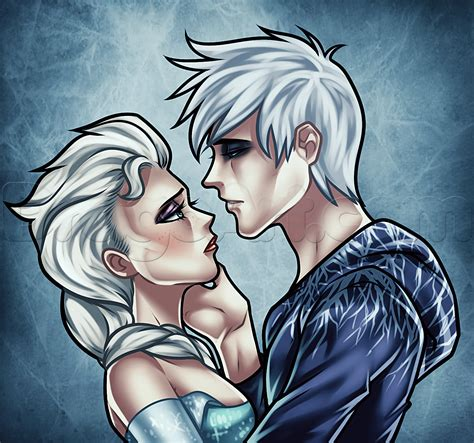 Drawing Elsa And Jack Frost Added By Dawn May 10 2019