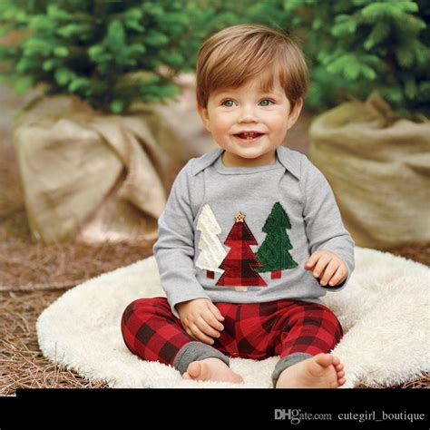 children christmas outfits infant baby xmas tree