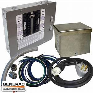 Generac 6296 Generator Transfer Switch Kit 50 Amp 12