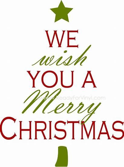 Christmas Merry Wish Tree Words Tartan Silhouette