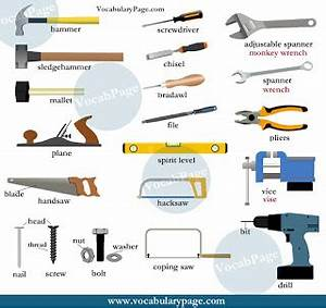 Tools vocabulary