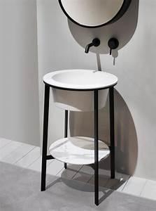 Meuble Vasque à Poser : meuble vasque design en c ramique poser avec miroir catino tondo by andrea parisio ~ Teatrodelosmanantiales.com Idées de Décoration
