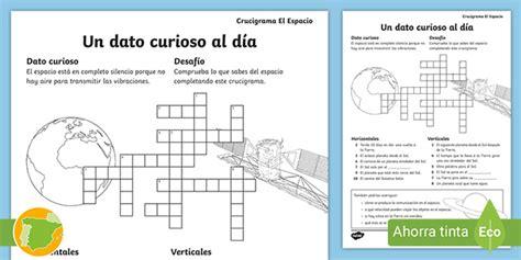 Crucigrama: El espacio (teacher made)