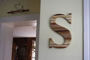 handmade large reclaimed wood monogram letter by With letters made of wood