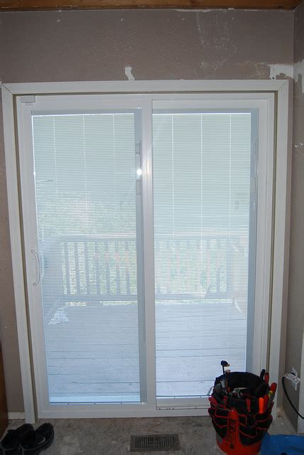 patio doors with built in shades style of french patio