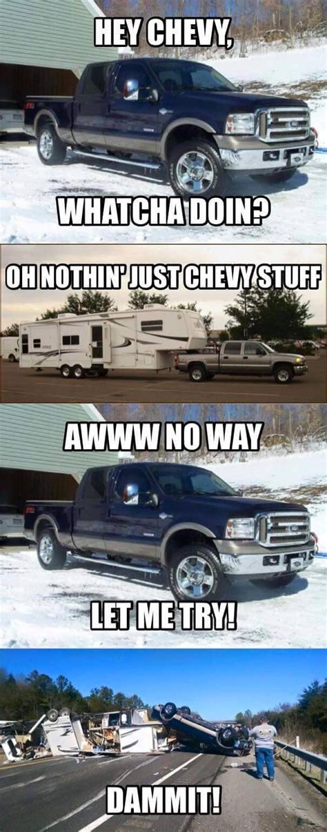 Ford Vs Chevy Meme - ford is better than chevy jokes www imgkid com the image kid has it