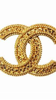 Chanel Gold Logo Brooch at 1stdibs