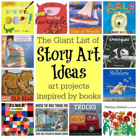list of story projects walking by the way 100 | The Giant List of Story Art Ideas Art Projects Inspired by Childrens Books from Walking by the Way1