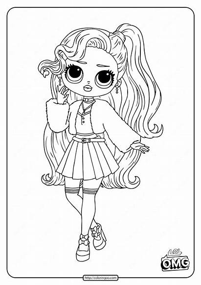 Omg Coloring Lol Doll Pages Pink Surprise
