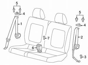 Volkswagen Beetle Convertible Seat Belt Lap And Shoulder