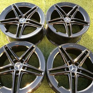 "19 inch alloys wheels for mercedes benz s e class w221 w222 w211 w213 222 style (fits: 19"" MERCEDES AMG C63 SET FACTORY OEM BLACK 2019 WHEELS RIMS BLACK 