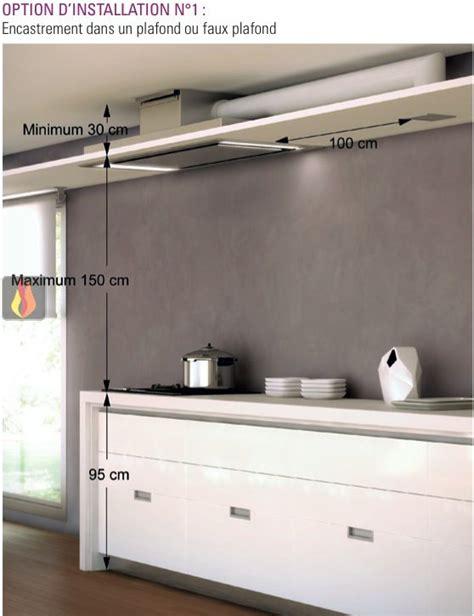 devis cuisine en ligne immediat hotte de plafond avec éclairage par leds de 100cm de