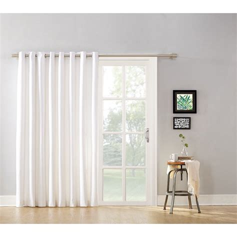 blackout curtains for sliding glass doors mainstays blackout energy efficient wide sliding