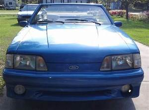 1989 Ford Mustang GT Convertible 5.0 Fox body Foxbody Stang Blue