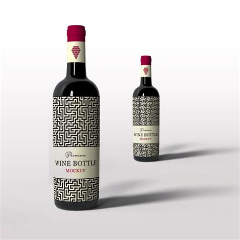 Admit it, creating a design for volume products is not that easy. Free Stylish Wine Bottle Mockup | Mockuptree