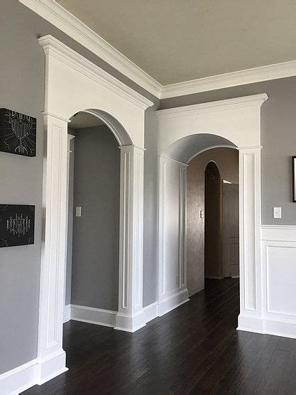 diy columns  arch trim    mdf  store bought