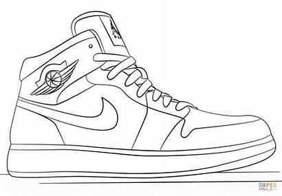 Jordan Sneakers Ausmalbilder Nike Coloring
