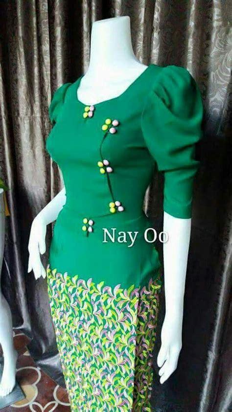 pin  cho cho win  mm design myanmar dress design