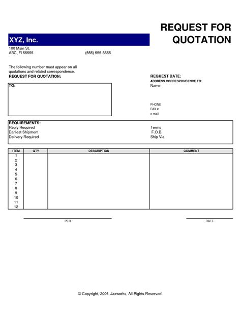Exles In Word Format by 11 Professional Quotation Template In Word Pdf Doc