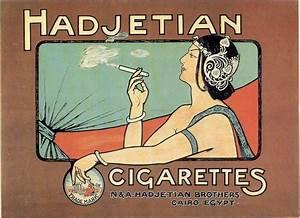 'Hadjetian Cigarettes' Art Nouveau Poster, 1911